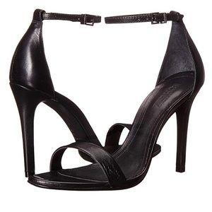 Schultz Cadey Lee Black Leather Heels size 6